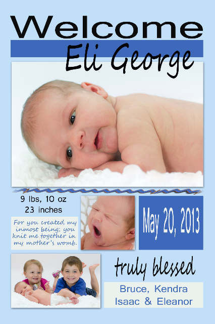 EliK birth announcement A-1